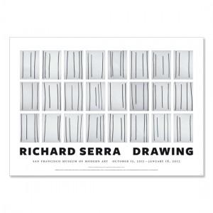 Richard Serra poster, Drawing (Signed), 2011