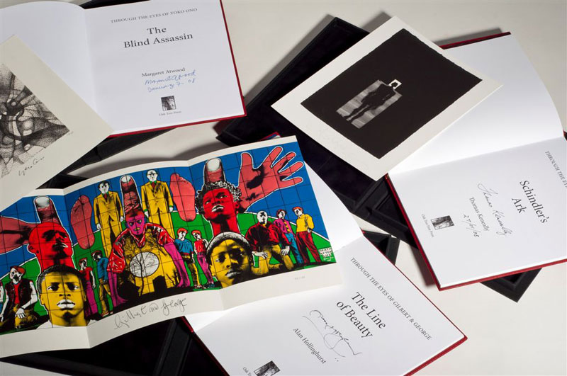 Shared Vision Set (Quarterbound Edition) Vol I – III. With signed and numbered prints by Gilbert & George, Yoko Ono and Antony Gormley