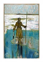 Billy Childish, Man Stood on the Ice Holding a Dead Duck, 2012.