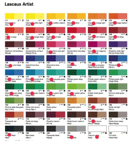 Colour Chart for Ugo Rondinone, Leuven Landscape, 2013.