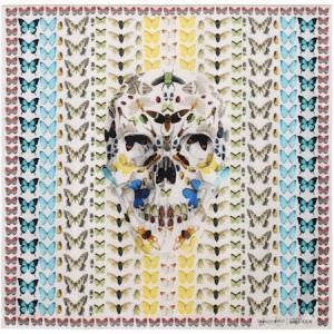 Alexander McQueen & Damien Hirst exclusive Scarf collaboration.