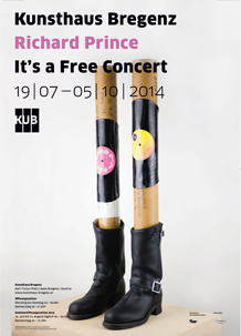 Richard Prince, It's a free concert -Poster, 2014