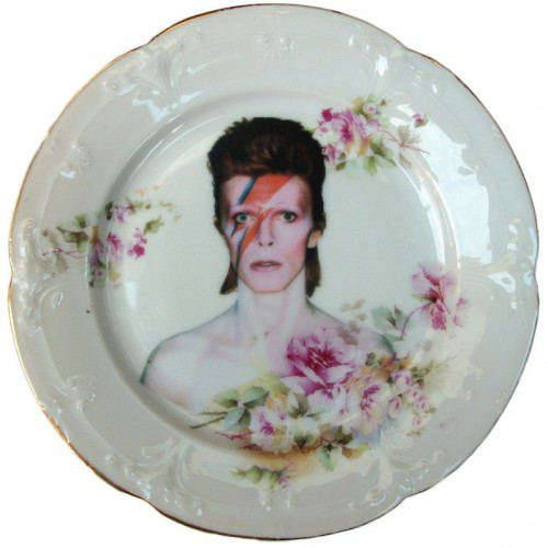 David Bowie x Altered Antique Ceramic Plate – Small plate 1