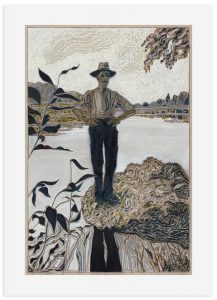 Billy Childish - Man stood on rock -2016