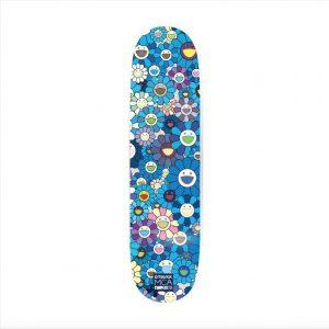 Takashi Murakami - Multi Flower 8.0 Skate Deck (Blue) - 2017