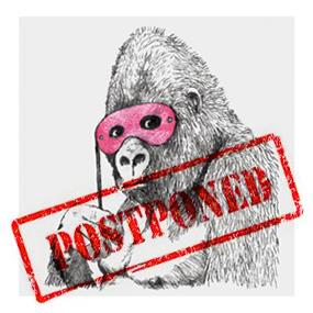 Banksy, Glitter Gorilla, 2012