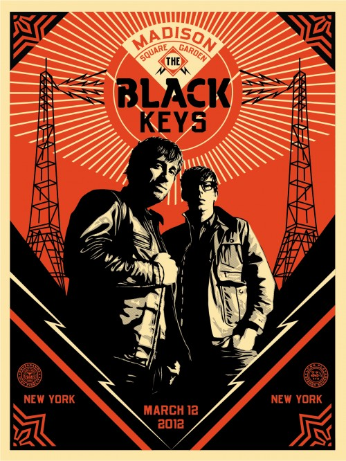Shepard Fairey - Black Keys Portrait, 2012