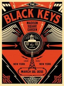 Shepard Fairey, Black Keys Live, 2012