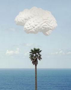 John Baldessari, Brain/Cloud (With Seascape and Palm Tree), 2009
