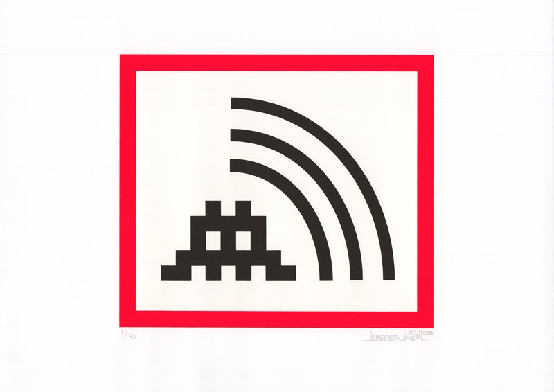Invader, Space Vibes (Red), 2009