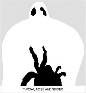 John Baldessari, Sediment: Throat, Nose and Spider, 2010