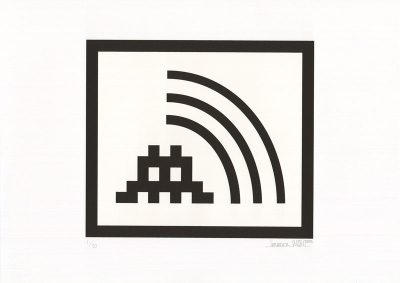Invader, Space Vibes (Black), 2009
