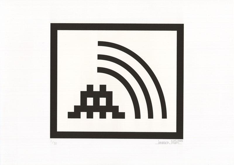 Invader, Space Vibes (Black), 2009