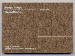 Joseph Beuys - Filzpostkarte, 1985