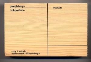 Joseph Beuys - Holzpostkarte, 1974