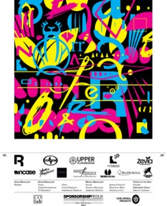 Ryan McGinness, Show print for the Sponsorship REDUX show, 2011