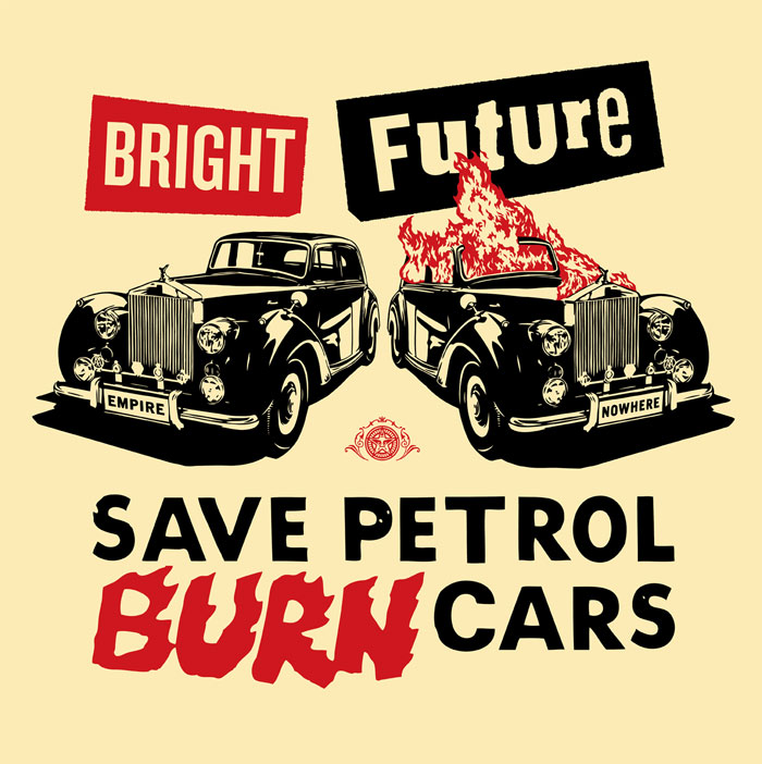 Jamie Reid and Shepard Fairey, Bright Future, 2012 (Black, Red)