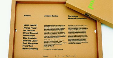 Portfolio, postproduction Generali Foundation, 1997