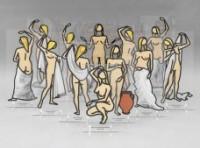 ulian Opie, Aniela Statuettes.