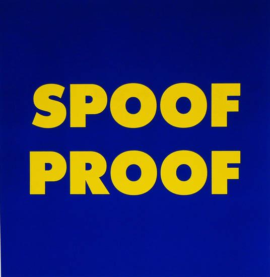 Kay Rosen print - Spoof Proof (PWP011)