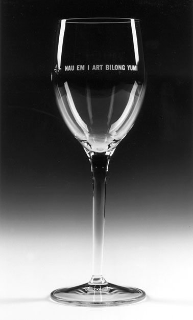Lawrence Weiner - Wine Glasses, 1997