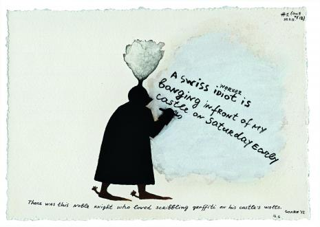 Nedko Solakov - Knight's Graffiti, 2012.