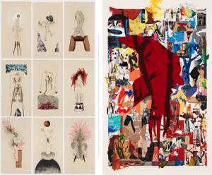 Wangechi Mutu and Arturo Herrera prints – Available at Art 43 Basel
