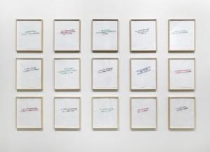 Annette Messager, Ma collection de proverbes, 2012. (1)