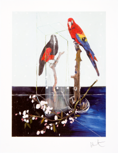 Damien Hirst, Two Birds with Blossom, 2012.