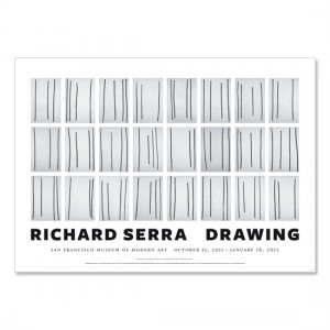 Richard Serra poster, Drawing (Signed), 2011