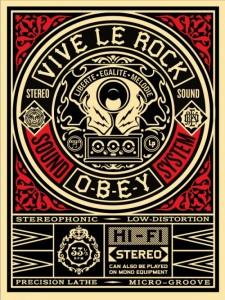 Shepard Fairey - Vive Le Rock, 2012