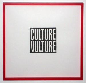 Barbara Kruger, Culture Vulture, 2012. (Framed)