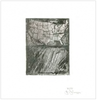 Jasper Johns, Map 2012. (Artists for Obama 2012 Portfolio)