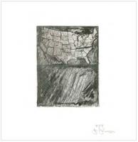 Jasper Johns, Map 2012. (Artists for Obama 2012 Portfolio)