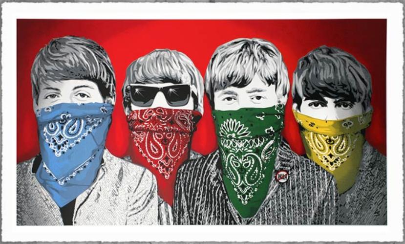 Mr Brainwash - Beatles Bandidos (Red), 2012.