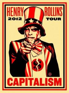 Shepard Fairey - Rollins Capitalism, 2012.