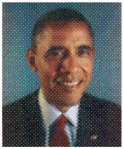 Chuck Close - Obama Victory Fund, 2012.