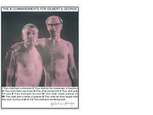 Gilbert & George - Ten X Comandmends for Gilbert & George, 2007.