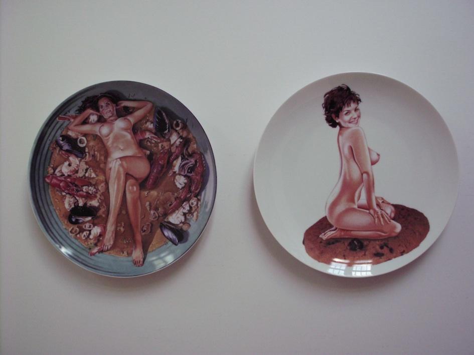 Mel Ramos - Cookie-Jar & Cacciucco-Cutie, 2012.