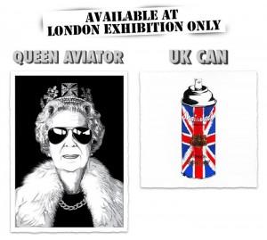 Mr Brainwash, UK Show 2012 prints : Queen Aviator / UK CAN