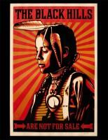 Shepard Fairey - Black Hills Paster, 2012.