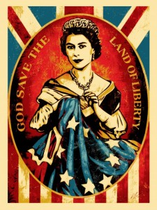 Shepard Fairey - God Save The Queen, 2012.