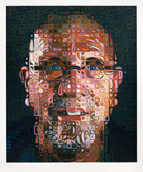 Chuck Close, Self-Portrait Screenprint 2012.