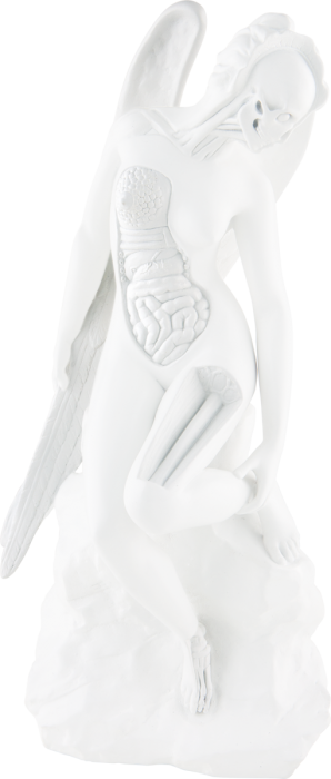 Damien Hirst, Anatomy of an Angel (white), 2012.