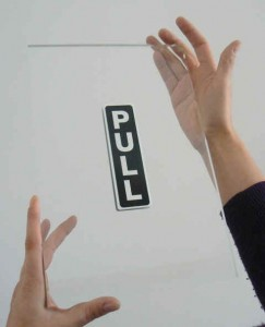 Jonathan Monk, 'push or pull ?', 2012. (Pull side)