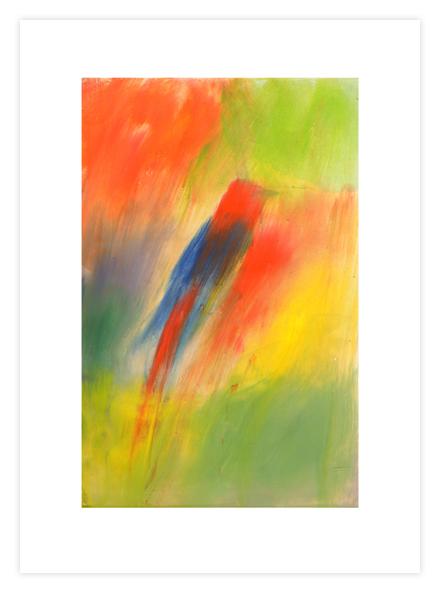 """Ross Bleckner print - """"Indian Songbird"""""""