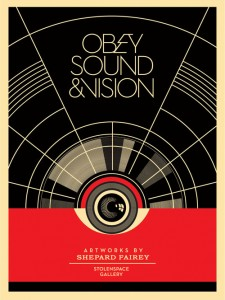 Shepard Fairey - Sound and Vision, 2012.