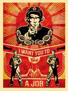 Shepard Fairey - Get a Job, 2012
