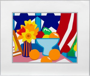 Tom Wesselmann, Still Life with Blowing Curtain (Red), 1999.