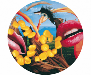 Jeff Koons, Lips plate, 2014.